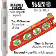 Klein Tools 935AB4V ACCU-BEND™ Level, 4 Vial, REM