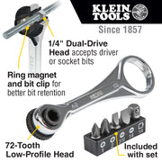Klein Tools 65200 Electrician's Mini Ratchet Set, 5-Piece