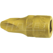 Hazet 8506-PH4 Phillips TiN Screwdriver Socket, #4, 1/4""