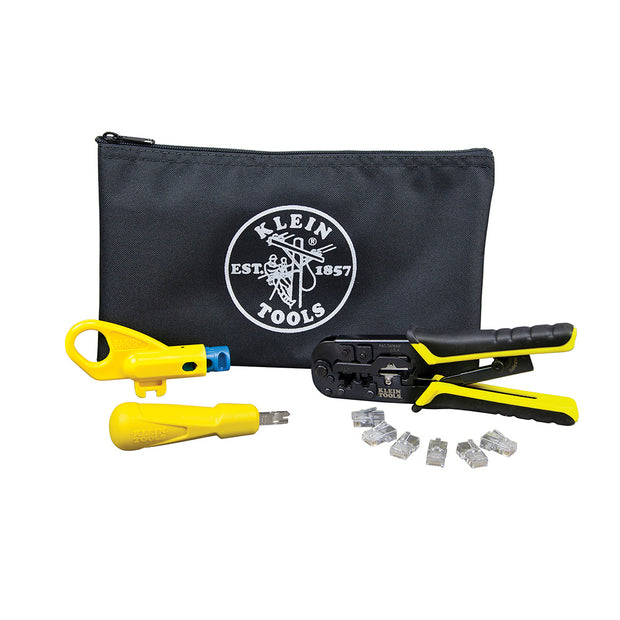 Klein Tools VDV026-212 Twisted Pair Installation Kit with Zipper Pouch