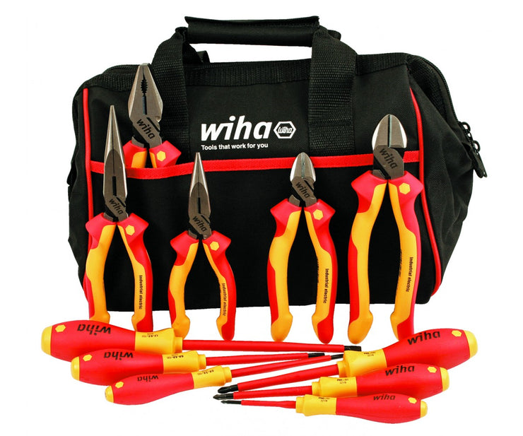 Wiha Tools 32977 Insulated Cutters Pliers Drivers Set