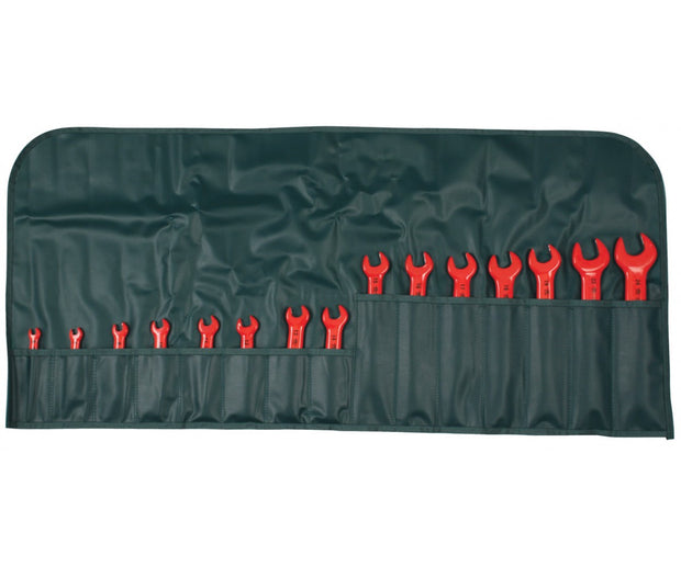 Wiha Tools 20091 Insulated Open End Wrench Set, 15 Pc.