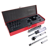 Klein Tools 65500 1/4-Inch Drive Socket Wrench Set, 13-Piece