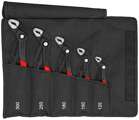 Knipex 00 19 55 S5 5-Piece Pliers Cobra Set In Tool Roll