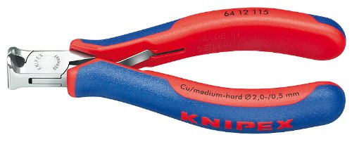 Knipex 64 12 115 Electronics End Cutting Nippers, 4.5-Inch