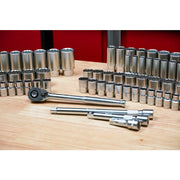 "Wiha Tools 33899 84-Piece 1/2"" Drive MM and SAE Socket Set"