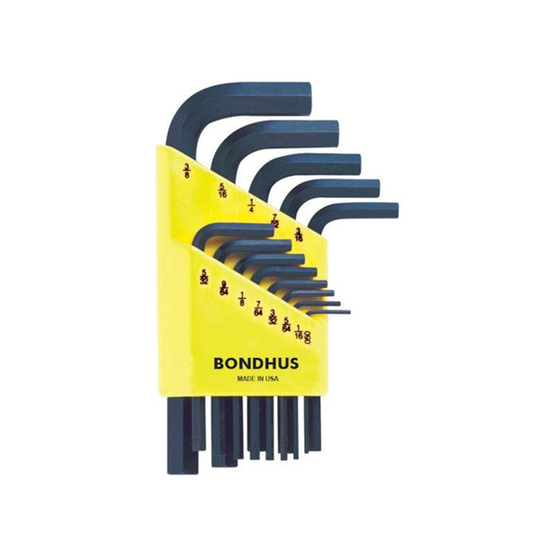 Bondhus 12237 Hex End SAE L-Wrench Set, 13 Pc.