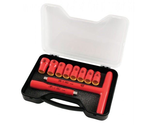 Wiha Tools 31595 Insulated Socket Set, 10 Pieces
