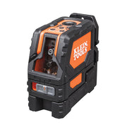 Klein Tools 93LCLS Cross Line Laser Level with Plumb Spot, Self-Leveling, Includes Magnetic Mounting Clamp