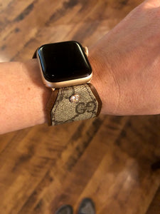 UPCYCLED WEB GG APPLE WATCH BOW BAND