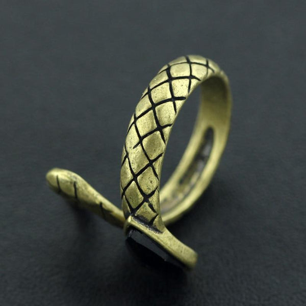 bague laiton forme serpent