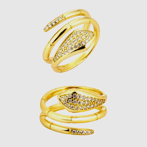 Bague Serpent Brillante femme