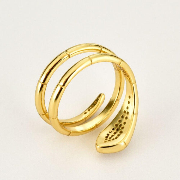Bague Serpent or Brillante