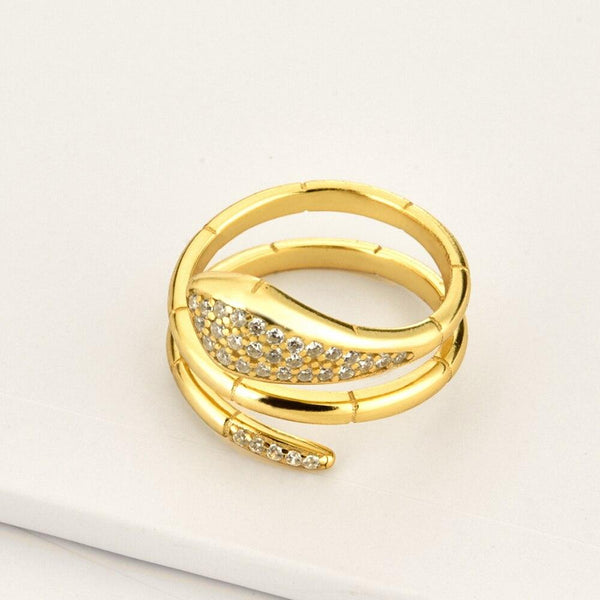 Serpent bague Brillante