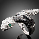 Bague Strass forme  Serpent