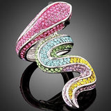 Bague Multicolore Serpent