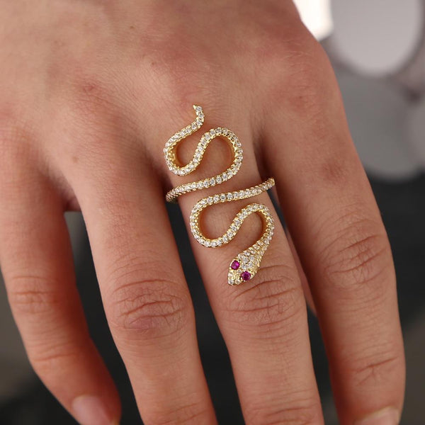 Bague Rubis serpent