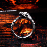 Bague Ouroboros serpent