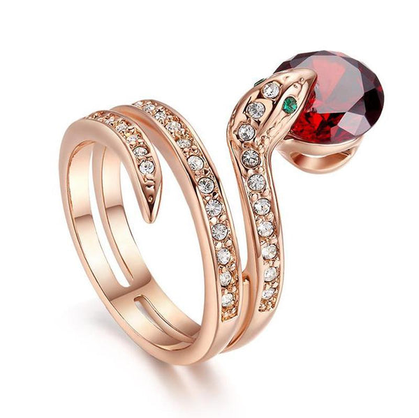 Bague Serpent Rubis