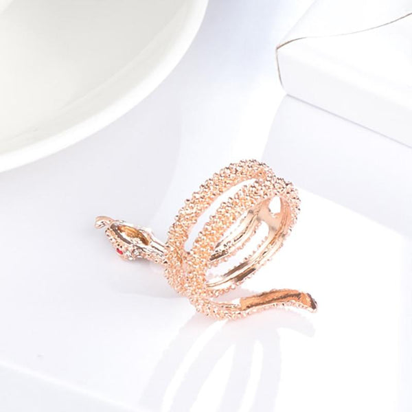 Bague Serpent or rose