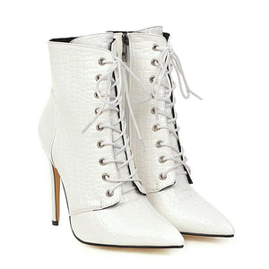 Bottines Blanches A Lacets