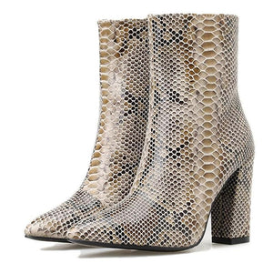 Bottines en Serpent