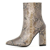 Bottines Effet Serpent