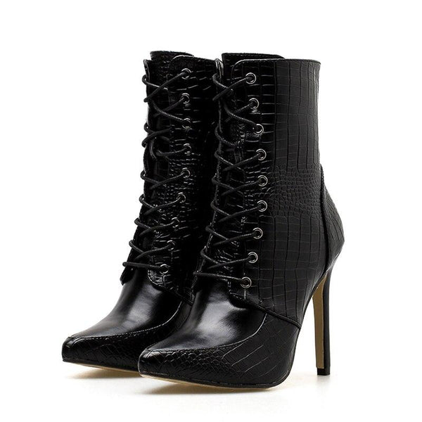 Bottines Ecailles Noires