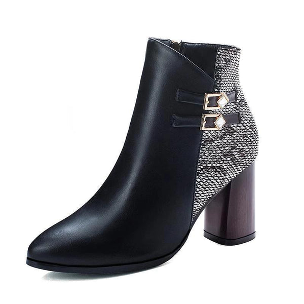 Bottines Façon Serpent