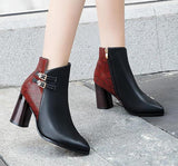Bottines Serpent Rouges