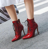 Bottines Rouges Femme
