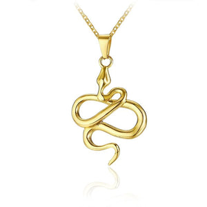 collier serpent or jaune