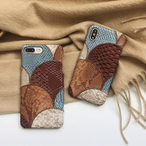 Coque Serpent cuir Iphone X