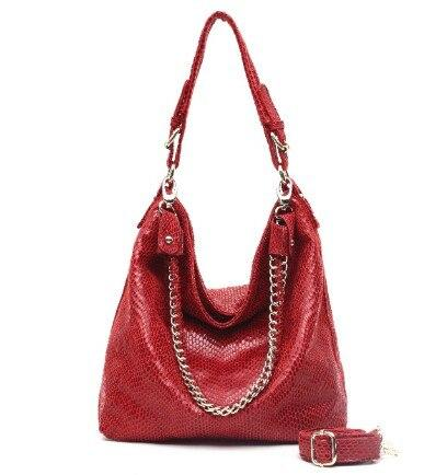 Sac Motif Serpent rouge