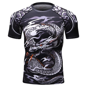 T-Shirt Compression Dragon Serpent
