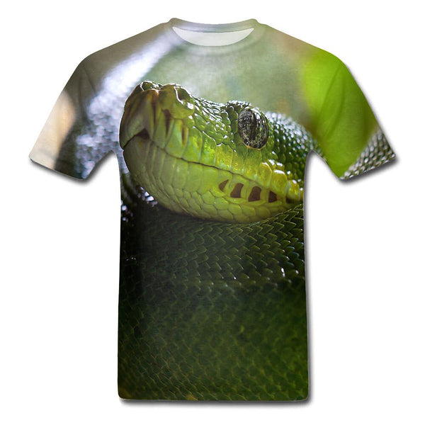 t shirt tete de serpent 3d