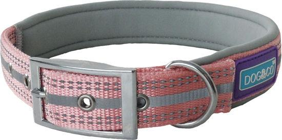 Hem & Co Pink Padded Collar Medium Collars & Leads Dog & Co
