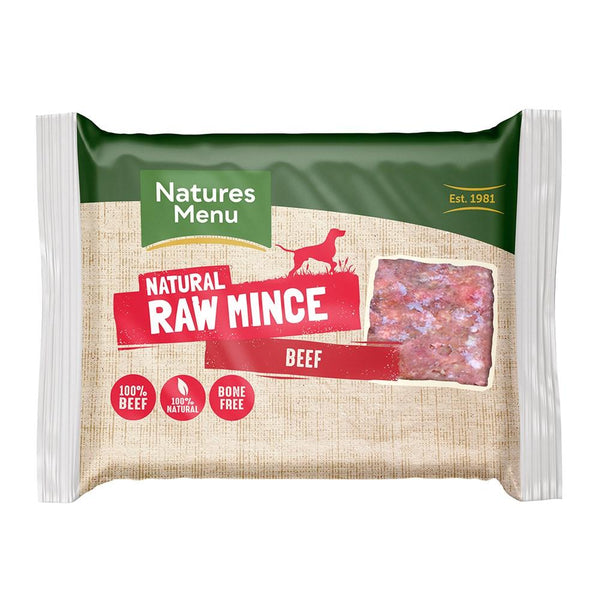 NM All Beef Block 400g Raw Dog Food Natures Menu