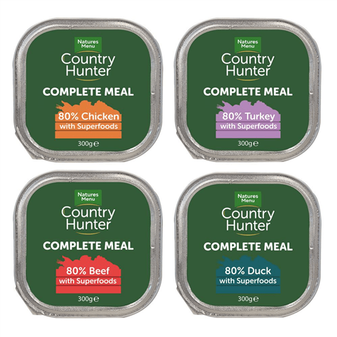 NM Country Hunter Foil Tray 8 x 300g Wet Dog Food Natures Menu