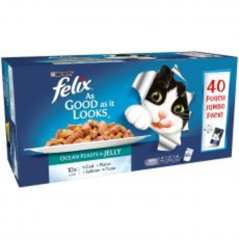 Felix AGAIL Fish 40pk Wet Cat Food Felix