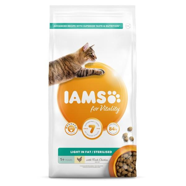 Iams Vitality Light In Fat 2kg Dry Cat Food Iams