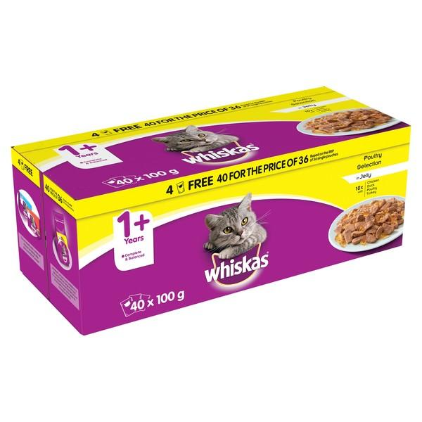 Whiskas Poultry 40/36 40 Pack Wet Cat Food Whiskas