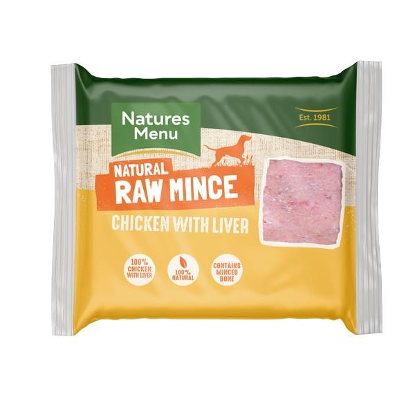 NM Chicken/Liver Block 400g Raw Dog Food Natures Menu