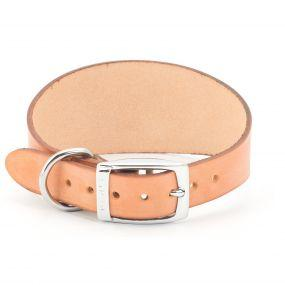 Ancol Leather Collar Rounded Tan Size 2 Collars Ancol