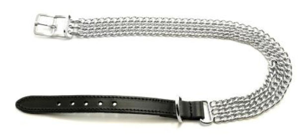 Ancol 3 Row Chain Collar Size 5 Black Collars & Leads Ancol