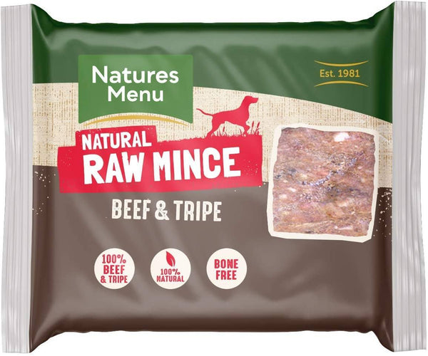 NM Beef/Tripe Block 400G Raw Dog Food Natures Menu