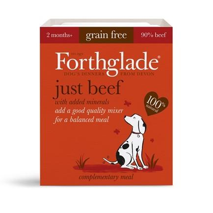 Forthglade Just Beef 395g Wet Dog Food Forthglade