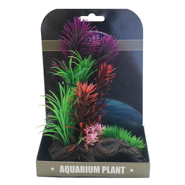 Beta Choice Mini Air Gardens Purple & Re Plastic Plants Betta