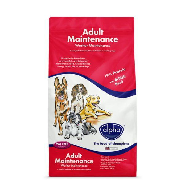 Alpha Worker Maintenance 15kg Dry Dog Food Alpha