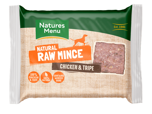 NM Block Tripe/Chicken Raw Dog Food Natures Menu